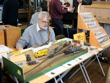 Malcolm with Bronaber Sidings and the Association Stand